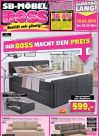MÖBEL BOSS Möbel Boss Prospekt KW09 Februar 2015 KW09