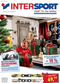 Intersport Sportlich denken - Gutscheine schenken Dezember 2011 KW50