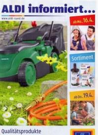 Aldi Süd Qualitätsprodukte für die Rasenpflege April 2012 KW16