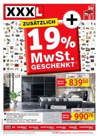 XXXL Möbelhäuser XXXL Möbelhäuser - Zusätzlich 19 % MwSt geschenkt April 2012 KW14