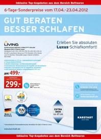KARSTADT Karstadt Einrichtung - Gut beraten besser schlafen April 2012 KW16